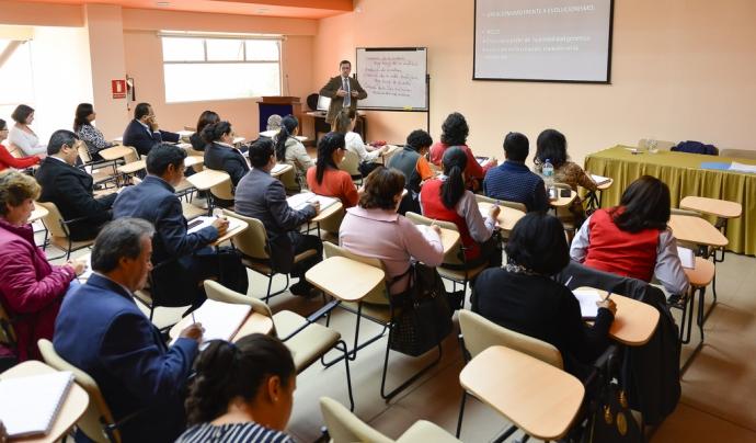 formació amb alumnes i professor