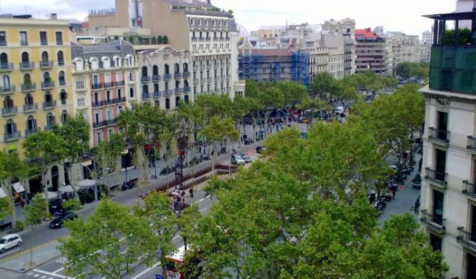 El Passeig de Gràcia, espai on va tenir lloc la manifestació a favor de l'accessibilitat. Font: Wikimedia Commons