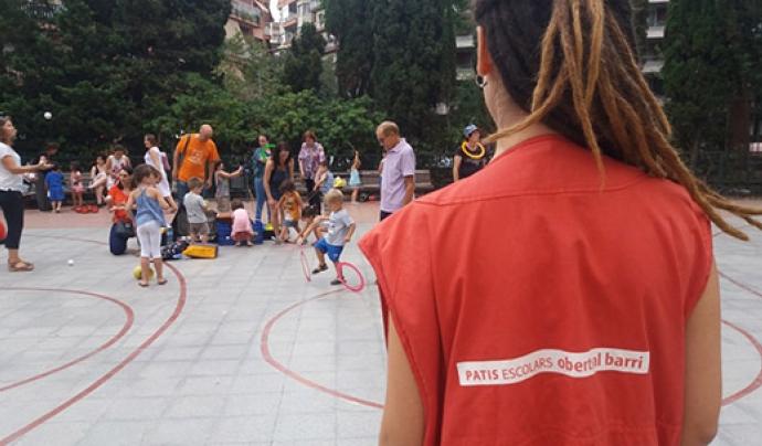 Els 'Patis oberts' compten amb un equip d'animació amb una certa vinculació al centre educatiu Font: Ajuntament de Barcelona
