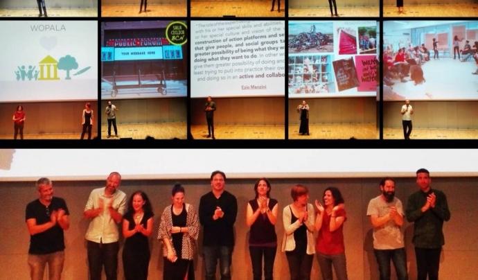 L'equip de ponents del Pechakucha  nº 26 de Barcelona, dedicat a la innovació social (imatge: kids & cats)