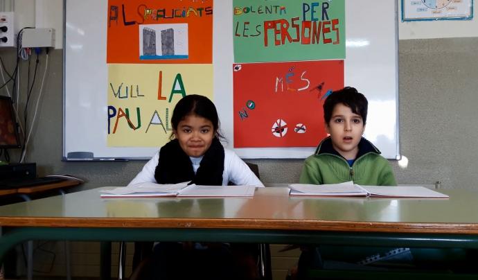 Alumnes de l'Escola Santa Eugènia, de Girona - Foto: Coordinadora d'ONG Solidàries  Font: