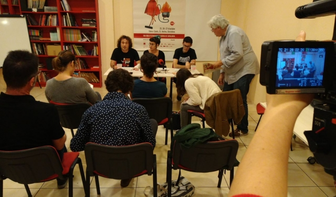 Presentació a premsa de la FESC2019 a Grup ECOS Font: Marta Risu
