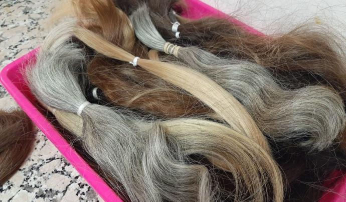 Blens (o flocs) de cabell per a perruques Font: Marta Rius