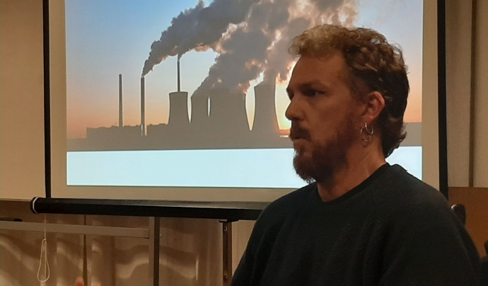 Alfons Pérez, de l'Observatori del Deute en la Globalització Font: Marta Rius