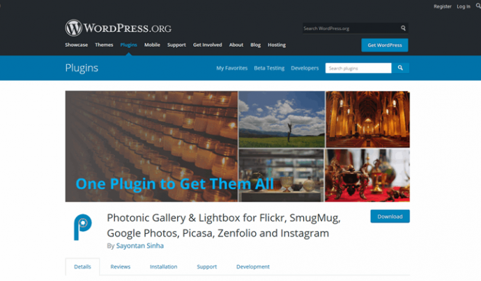 Mitjançant Photonic de Wordpress podrem  Font: Photonic