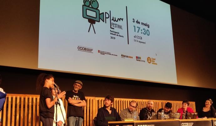 Acte de lliurament de premis de la segona edició del PLum Festival el 3 de maig de 2019 al Centre de Cultura Contemporània de Barcelona (CCCB) Font: Casals dels Infants