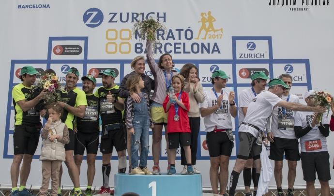 Podi solidari de la marató de l'any passat. Font: Joaquim Pujolar