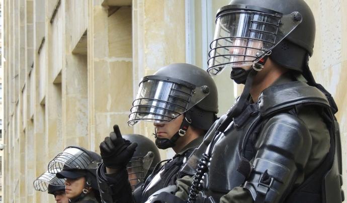 Imatge d'arxiu de cossos de seguretat a Bogotà. Font: CC