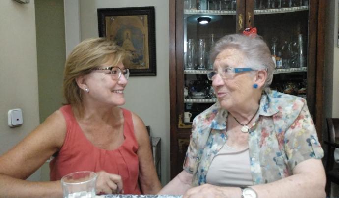 La Pilar Freixa és voluntària de l'entitat des del 2009 i la Pilar Recha els va conèixer fa un parell d'anys. Font: Suport Associatiu. Font: Font: Suport Associatiu.