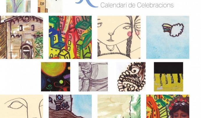 Portada del calendari d'enguany Font: Grup Interreligiós del Raval