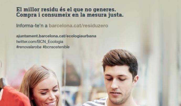 Cartell de Renova la teva roba primavera 2017 Font: Ajuntament de Barcelona