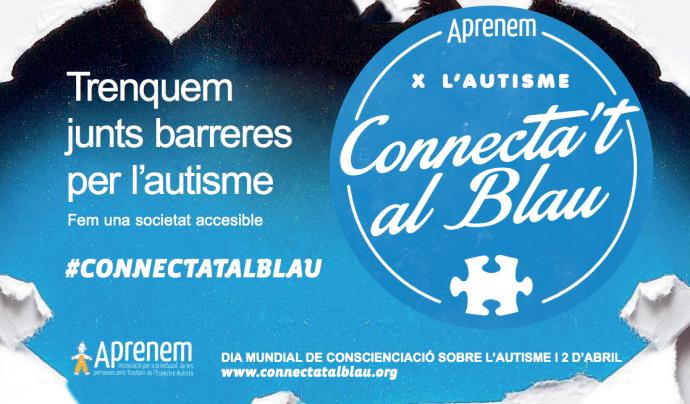 Pòster de la festa 'Connecta't al blau'. Font: Associació Aprenem