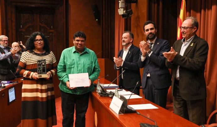 Premi ICIP Constructors de Pau 2018 per a Cauce Ciudadano. Font: ICIP