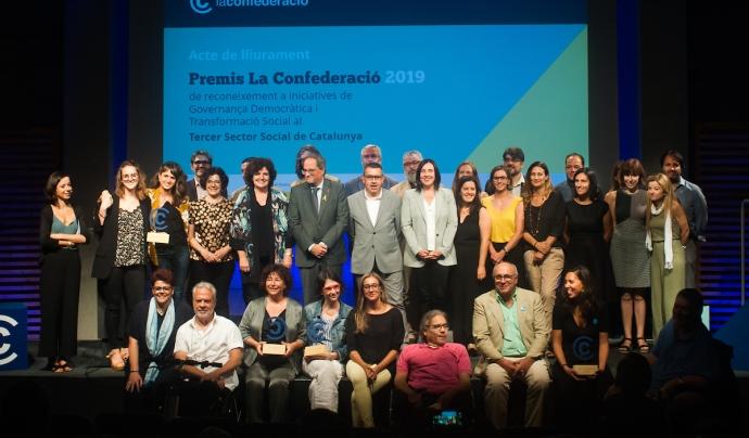 Membres de les entitats guanyadores de la tercera edició dels Premis La Confederació, que es van lliurar el 19 de setembre. Font: La Confederació. Font: La Confederació