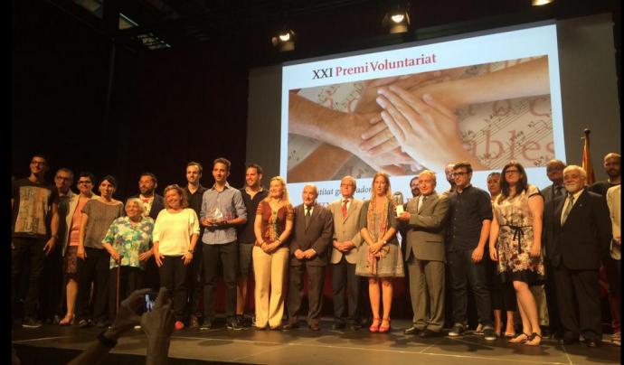 Premi Voluntariat 2015 Associació Comtal Font: Xarxanet.org