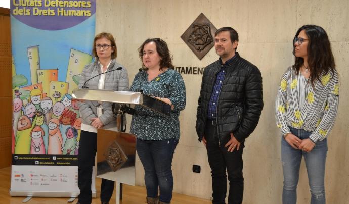 Presentació de la VII edició de Ciutats Defensores de Drets Humans. Font: reus.cat