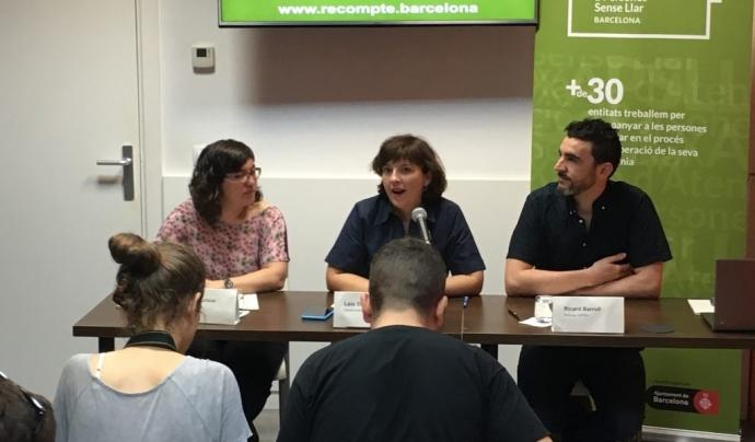 Imatge de la presentació dels resultats del recompte de persones sense llar a Barcelona Font: Ajuntament de Barcelona