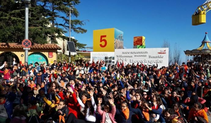 Imatge de la presentació de la 25a edició de la campanya de joguines al Parc d'atraccions del Tibidabo Font: Creu Roja Joventut