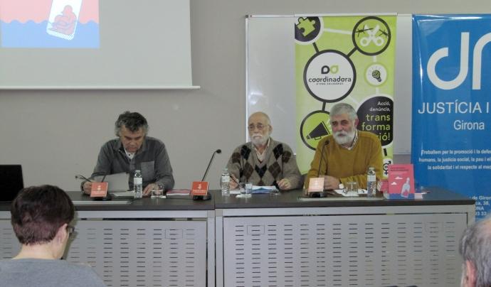 Acte pels Drets Humans a la Casa de Cultura de Girona Font: Coordinadora d'ONG Solidàries