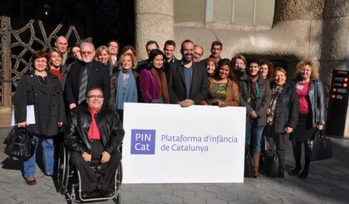 Membres de la Pincat durant la presentació de la plataforma, l'any 2011