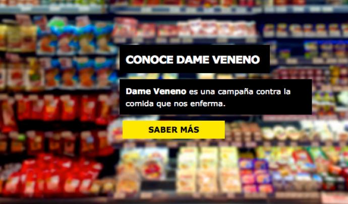 La campanya #DameVeneno demana que les administracions regulin la indústria alimentària. Font: Veterinaris Sense Fronteres (VSF)