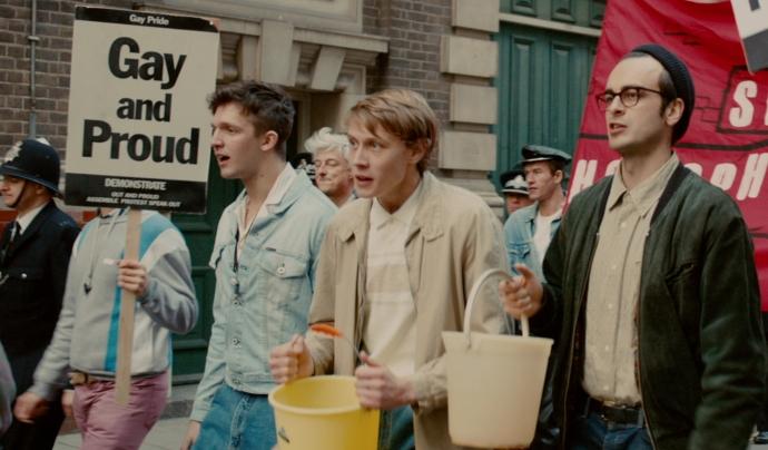 Fotograma de la pel·lícula 'Orgull' que relata la història de l'aliança 'Lesbians and Gays Support the Miners' Font: Golem Productions