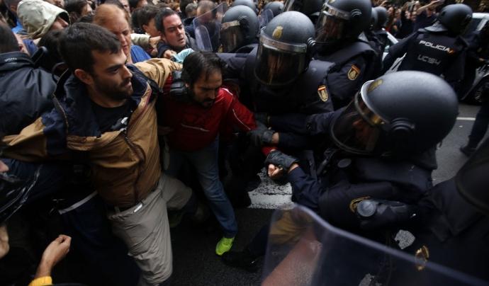 Càrrega policial durant l'1-O