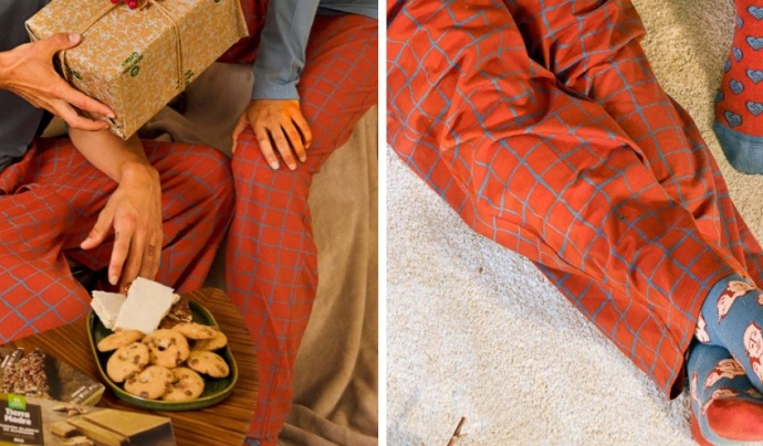 Oxfam Intermón ha creat una línia de pijames i mitjons de comerç just. Font: Imatge del web d'Oxfam Intermón.