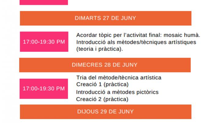 Programa del curs de MYth Project a Barcelona Font: ABD