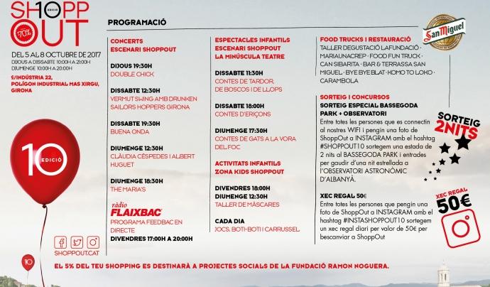 Programació del ShoppOut Font: Fundació Ramon Noguera