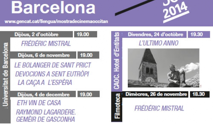 Mòstra de Cinèma Occitan a Barcelona