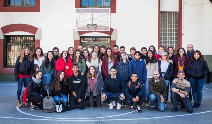 Alumnes projecte 'Aprendre a mirar. Trencant murs invisibles' Font: Fundació Proide