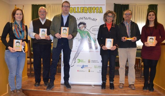 Moment de la presentació del còmic a l'Ajuntament de Mollerussa Font: Ajuntament de Mollerussa