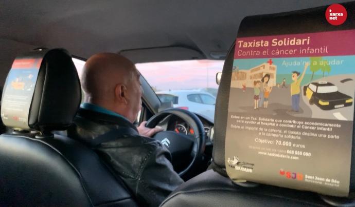 En Segismundo Serra és un dels taxistes membres de l'Associació Taxi Solidari. Font: Míriam Pagès
