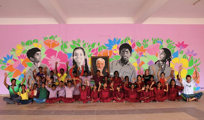 Projecte d'ARTISTLOVE a l'Índia. Font: ARTISTLOVE