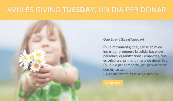 El Giving Tuesday és una plataforma des d'on impulsar projectes solidaris des de tot el món
