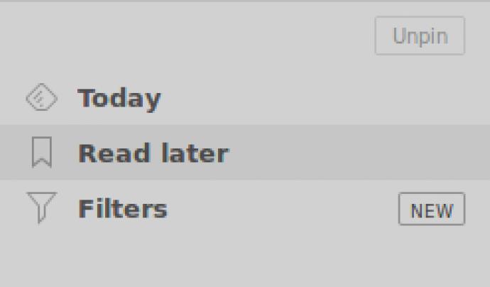 Aquí trobarem tots els articles que hem deixat per llegir més tard Font: Feedly