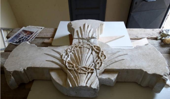 Tasques de recuperació de la Tomba Vall Marimón del cementiri d'Horta.
