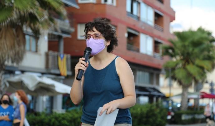 Agnès Sala, portaveu de la plataforma Recuperem El Baix Maresme. Font: Eduard Omedes