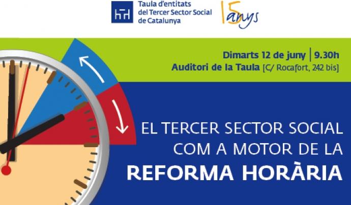 El Tercer Sector Social com a motor de la Reforma Horària