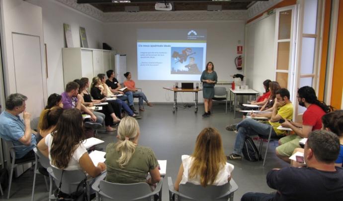 Formació grupal en el marc del programa Acompanyament Cooperatiu. Font: Federació de Cooperatives de Treball de Catalunya