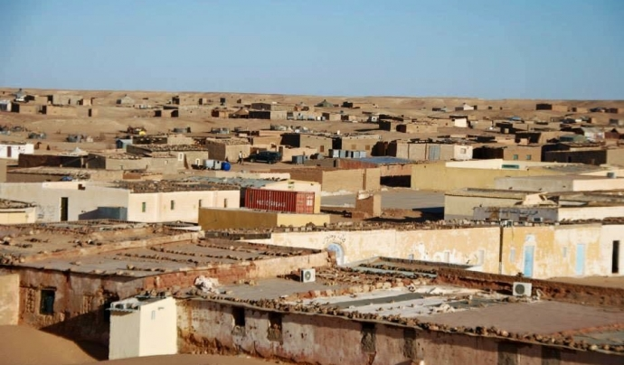Campament al Sàhara Occidental.