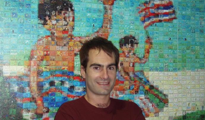 Rubén Fernández, vocal de l'Associació Catalana d'Esperantistes.  Font: R. F.