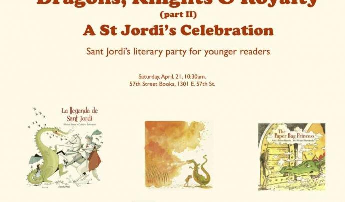 Cartell de celebració del Sant Jordi a Chicago. Font: Institut Ramon Llull