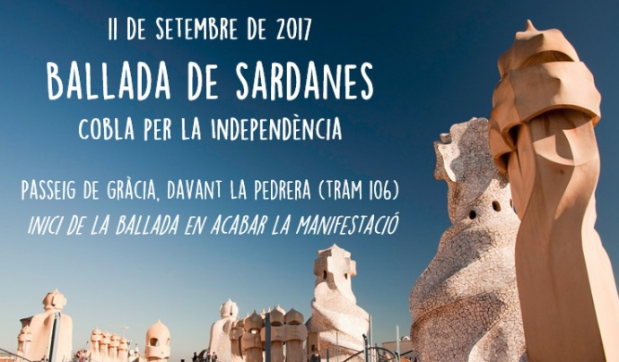 Cartell de la ballada de sardanes Font: Sardanes per la Independència