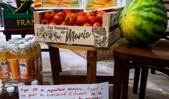 Xarxa Popular d'Aliments del Raval Font: Xarxa Suport Mutu del Raval