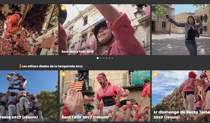 Captura de pantalla del portal XALA