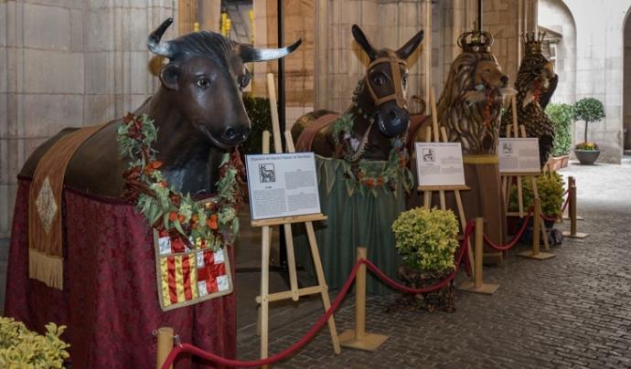 Fins al 24 de setembre podem visitar l'Exposició del Seguici Popular des de l'Ajuntament de Barcelona.  Font: Ajuntament de Barcelona