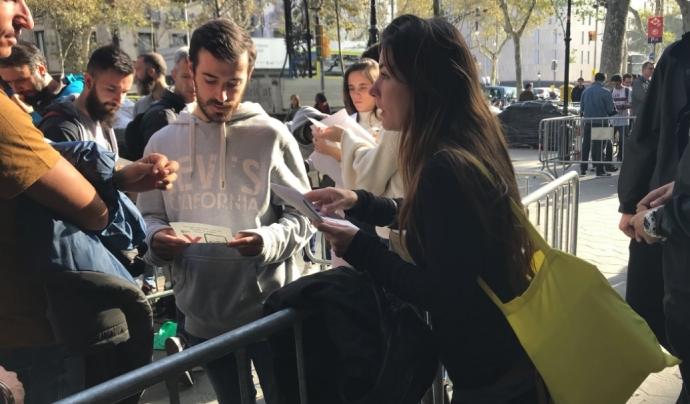 L'acció formava part de la campanya iSlave at 10. Font: SETEM Catalunya