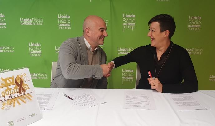 La proposta l'han dut a terme Ua1 Lleida Ràdio i Pastisseries Marquès. Font: Francesc Balañà